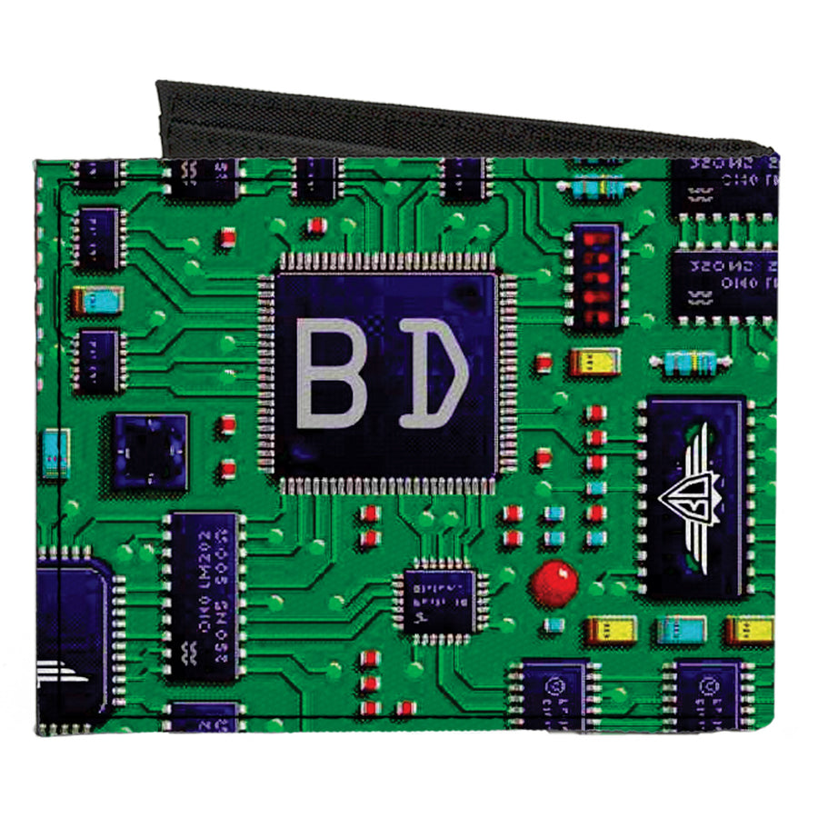 Canvas Bi-Fold Wallet - Circuit Board