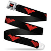 Nightwing Logo Full Color Black Red Seatbelt Belt - Nightwing Logo Black/Red Webbing