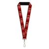"Lanyard - 1.0"" - Vintage Dodge DEMON Logo Icon Burgundy Yellow Red"