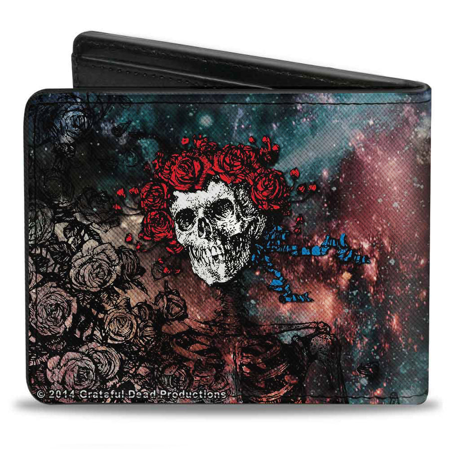 Bi-Fold Wallet - Space Your Face + Skull & Roses Galaxy