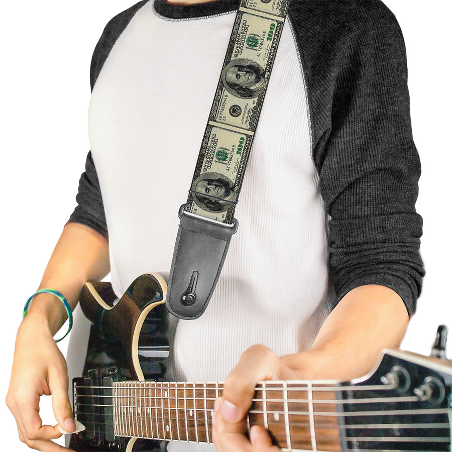Guitar Strap - 100 Dollar Bills