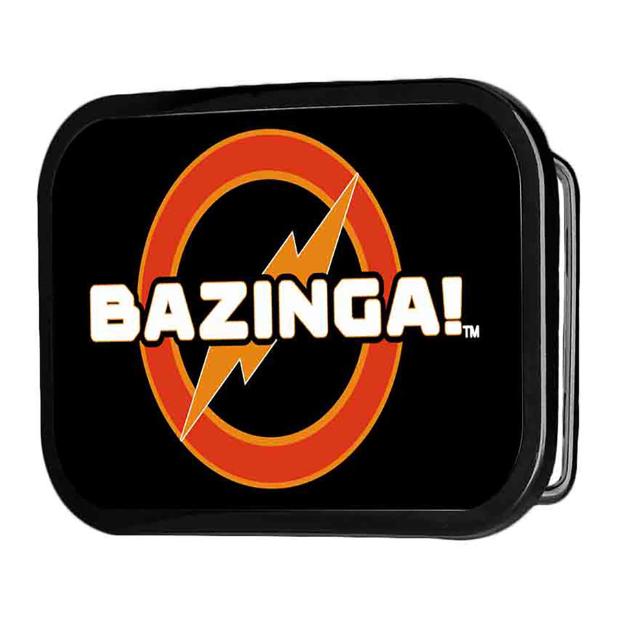 BAZINGA! Logo FCG Black - Chrome Rock Star Buckle
