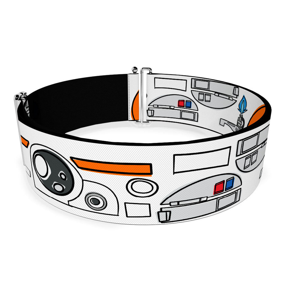 Cinch Waist Belt - Star Wars BB-8 Parts Bounding White Black Orange Grays