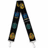 Purse Strap - Hogwarts & 4-House Crests Filigree Black Gray
