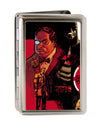 Business Card Holder - LARGE - Flashpoint Batman Issue #1 Cover Batman James Gordon Penguin Cover Pose FCG Reds Black
