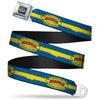 MOPAR 1937-1947 Logo Full Color Blue Yellow Red Seatbelt Belt - MOPAR 1937-1947 Logo-USE CHRYSLER ENGINEERED MOPAR PARTS AND ACCESSORIES/Paint Stripe Blue/Yellow/Red Webbing