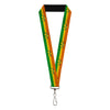 "Lanyard - 1.0"" - AQUAMAN Logo3 Scales Stripe Orange Yellow Green"