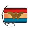 Canvas Zipper Wallet - LARGE - Wonder Woman 2017 Icon Stripe Red Golds Blue