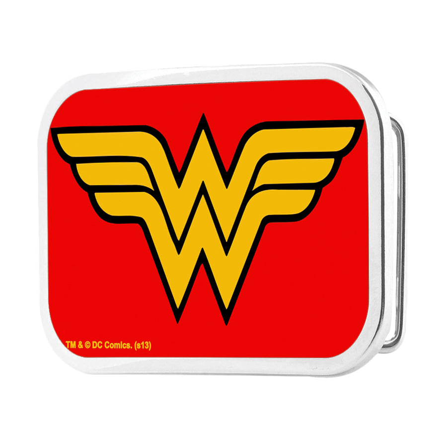 Wonder Woman Logo Framed FCG Red - Chrome Rock Star Buckle