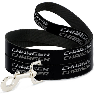 Dog Leash - CHARGER Double Repeat Black/Gray