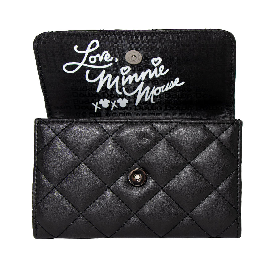 Women's Fold Over Wallet Rectangle - Minnie Mouse Bow