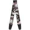 Guitar Strap - Batgirl Wonder Woman Supergirl Retro Panels Black Pink White