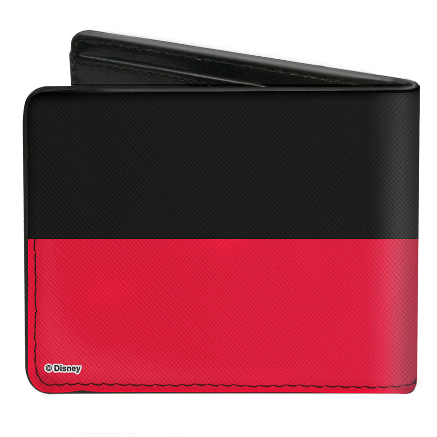 Bi-Fold Wallet - Mickey Mouse Bounding Buttons2 Black Red White