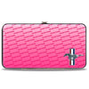 Hinged Wallet - Ford Mustang w Bars CORNER w Text PINK