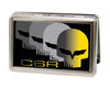 Business Card Holder - LARGE - C6 Racing w Skull Repeat FCG Black Yellow Silver