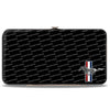 Hinged Wallet - Ford Mustang w Bars CORNER w Text