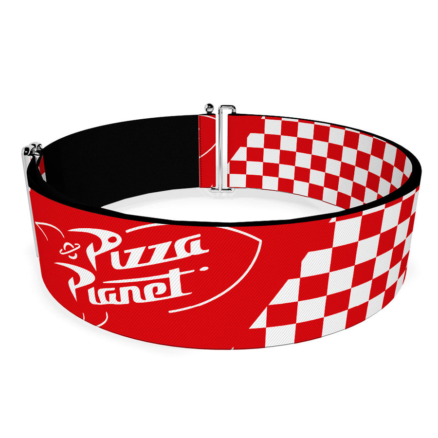 Cinch Waist Belt - Toy Story PIZZA PLANET Logo Checker Red White