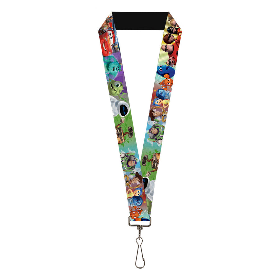 "Lanyard - 1.0"" - Disney Pixar 7-Movie Character Collage"