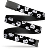 Black Buckle Web Belt - Mickey Mouse Expressions Scattered Black/White Webbing