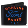 Bi-Fold Wallet - GENUINE FORD PARTS Star Logo Black Red Blue