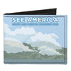 Canvas Bi-Fold Wallet - SEE AMERICA-GOLDEN GATE NATIONAL RECREATION AREA Foggy Bridge Landscape