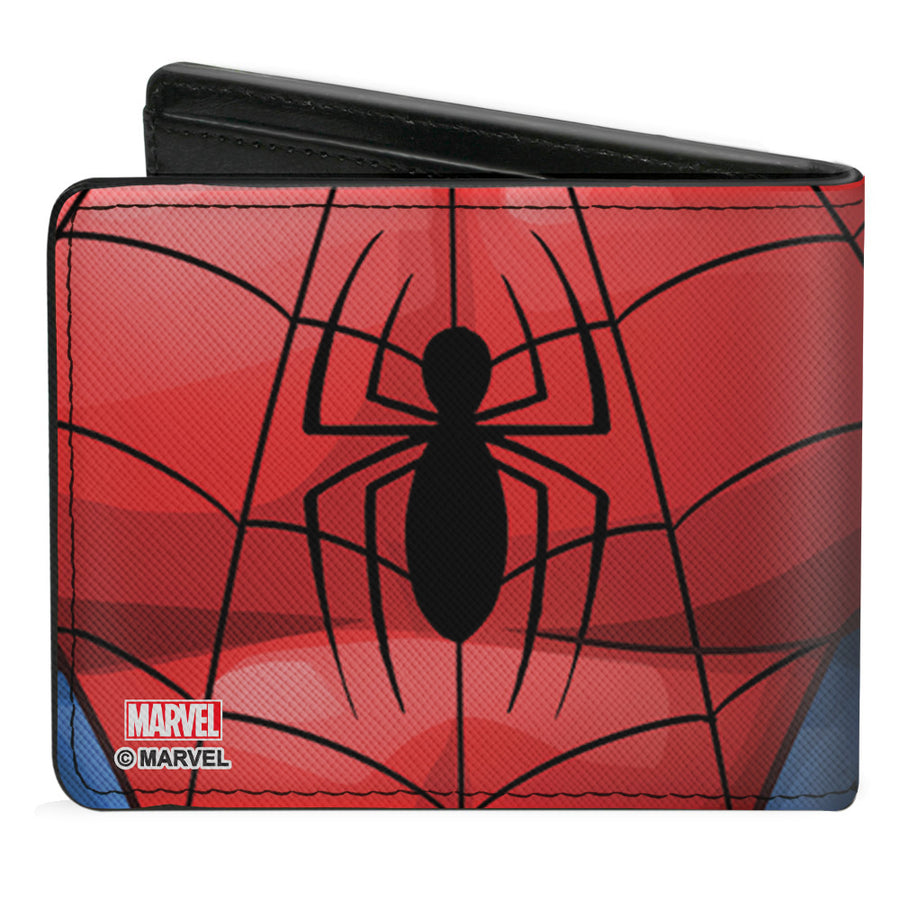 Bi-Fold Wallet - Spider-Man Evergreen Chest Spider Blue Red Black