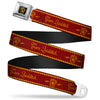 Gryffindor Crest Full Color Black/Gold Seatbelt Belt - TEAM QUIDDITCH/GRYFFINDOR Crest Red/Gold Webbing