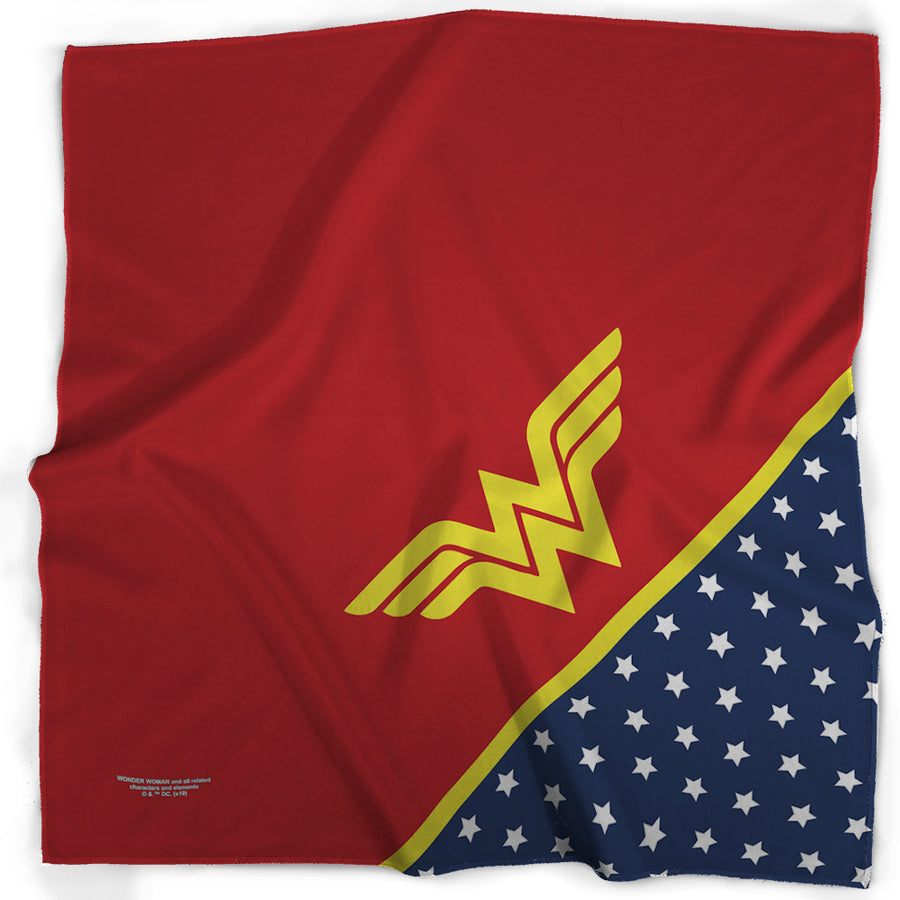 Bandana - Wonder Woman Star WW Icon Red Yellow Blue White
