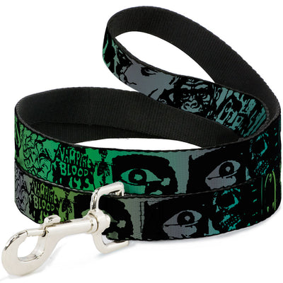 Dog Leash - Retro Monster Aqua/Black