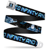 Space Ranger SR Logo Full Color Black/Blue Seatbelt Belt - Buzz Poses/Stars TO INFINITY AND BEYOND Black/Blues Webbing
