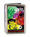 Business Card Holder - LARGE - GOTHAM CITY SIRENS Issue #14 Cover FCG Black Multi Color