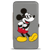 Hinged Wallet - Nerdy Mickey Mouse Arms Crossed + Walking Poses Gray