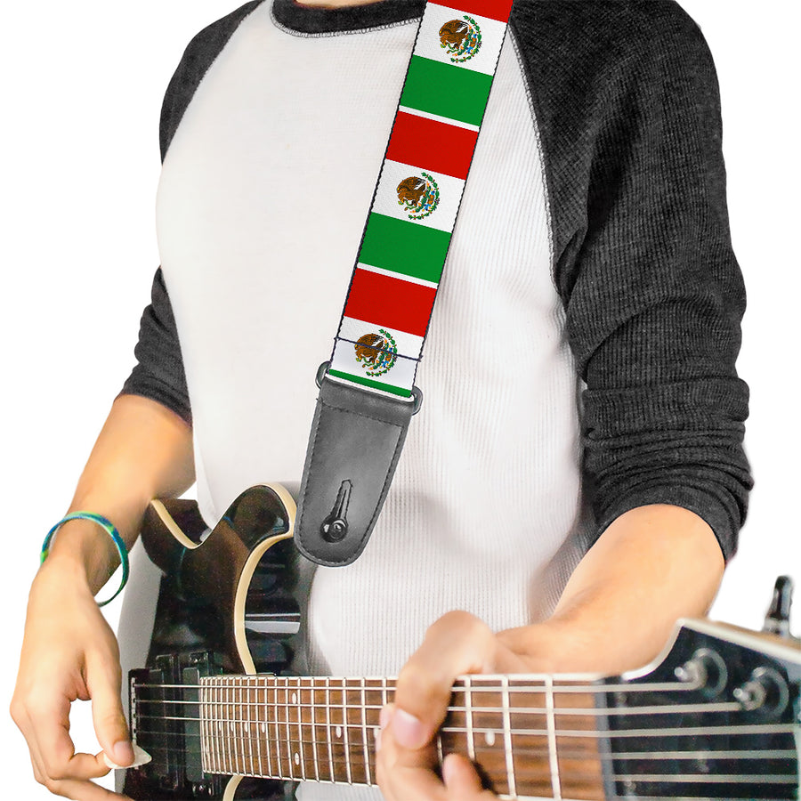 Guitar Strap - Mexico Flags