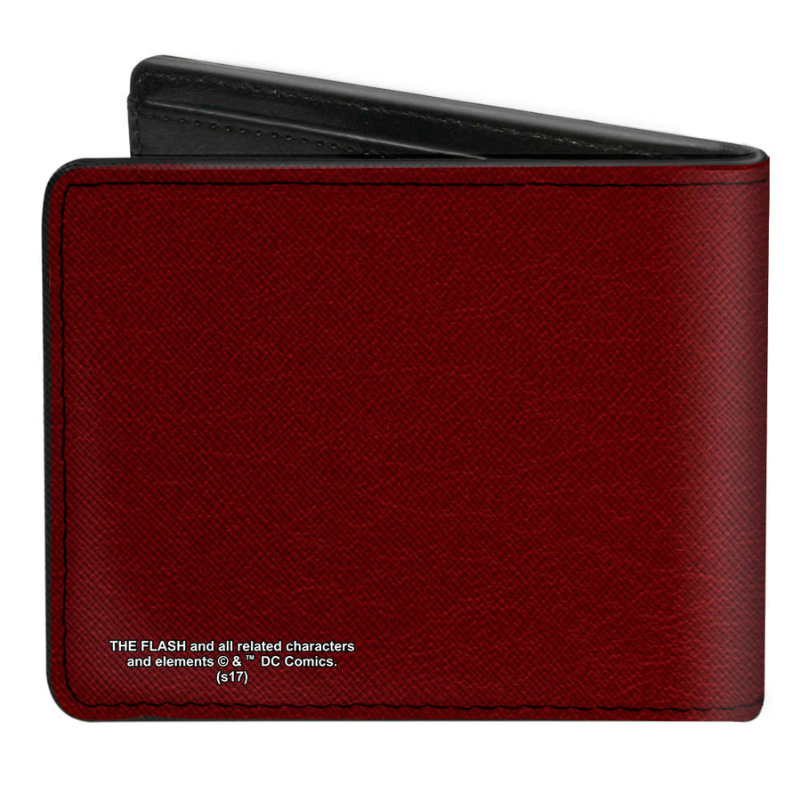Bi-Fold Wallet - The Flash Logo5 Burgundy Golds