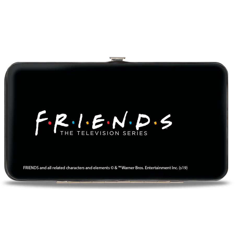 Hinged Wallet - Friends Season 2 6-Character Vivid Group Pose Red + FRIENDS THE TELEVISION SERIES Logo Black White Multi Color