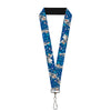 "Lanyard - 1.0"" - Frozen Olaf Poses Snowflakes Blues"