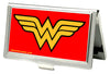 Business Card Holder - SMALL - Wonder Woman Logo FCG Red