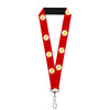 "Lanyard - 1.0"" - The Flash Logo6 Logo Monogram Reds White Yellow"