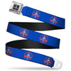 SHELBY Cobra Full Color Black Gray Red Blue Seatbelt Belt - SHELBY Cobra Weathered Blue/Gray/Red Webbing