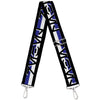 Purse Strap - Star Wars Aurebesh REBEL Stripe Black Blue White