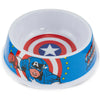 Single Melamine Pet Bowl - 7.5 (16oz) - Captain America Shield + CAPTAIN AMERICA Action Pose Blue Red White