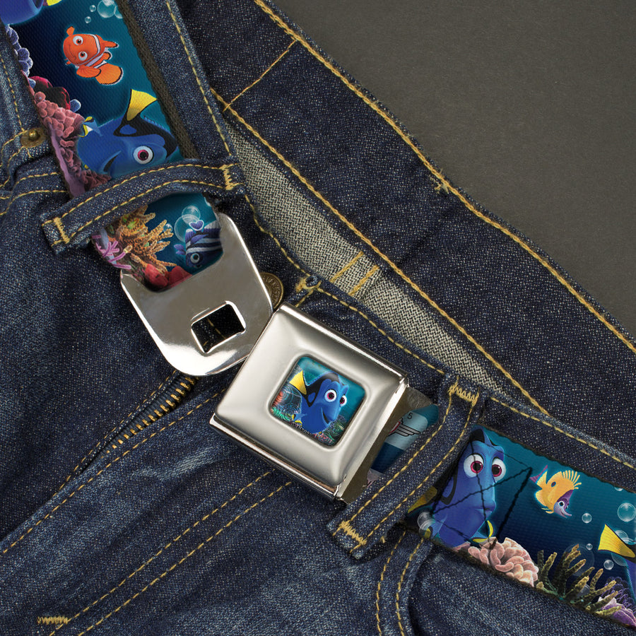 Dory Pose Full Color Seatbelt Belt - Dory Poses & Friends Under the Sea Webbing
