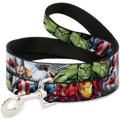 Dog Leash - Marvel Avengers 4-Superhero Poses CLOSE-UP