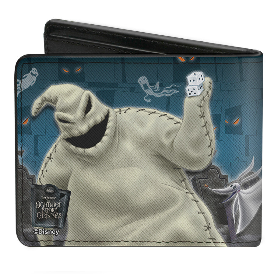 Bi-Fold Wallet - Nightmare Before Christmas 4-Character Group Cemetery Scene