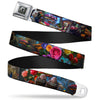 Alice Keyhole Full Color Grays Seatbelt Belt - Alice in Wonderland Movie Encounters Webbing