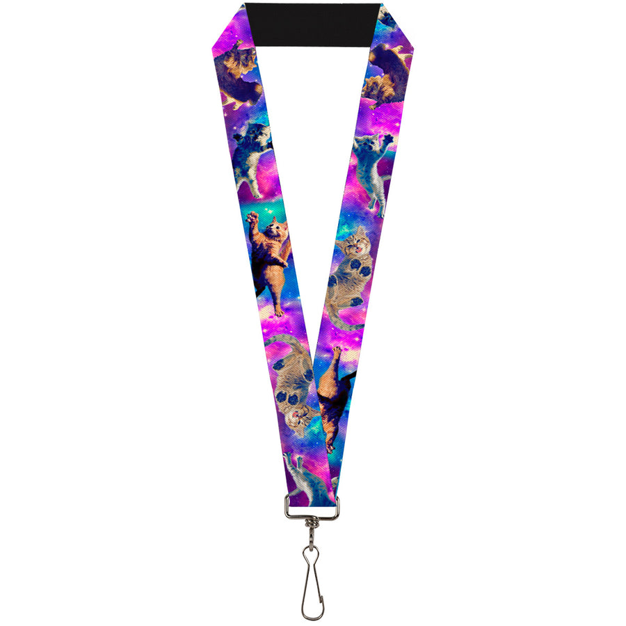 "Lanyard - 1.0"" - Cats in Space Pinks Blues"