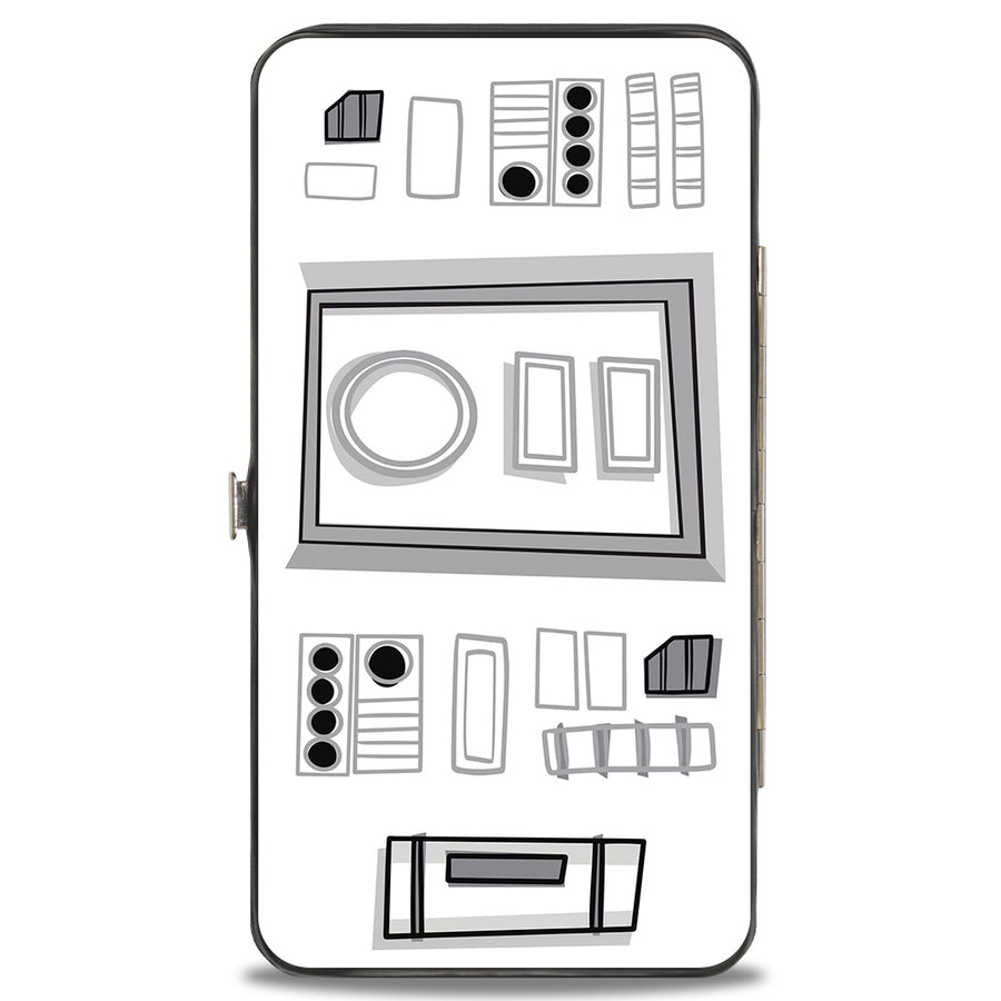 Hinged Wallet - Star Wars Stormtrooper Face + Parts2 White Grays Black