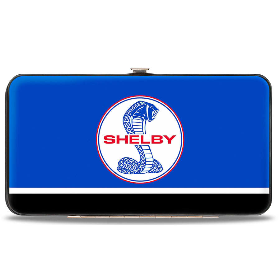 Hinged Wallet - SHELBY Tiffany Split Stripe Blue Red White Black