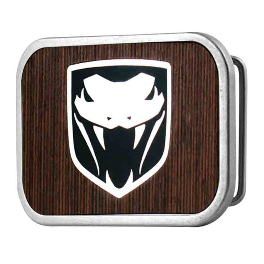 Dodge Viper Framed Marquetry Black Walnut Metal - Matte Rock Star Buckle