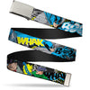 Chrome Buckle Web Belt - Batman & Villains1 Webbing